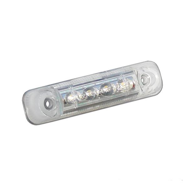 segnalatore d'ingombro posteriore.a led 65x16x6,5 trasparente ... - Illuminazione Veranda Camper