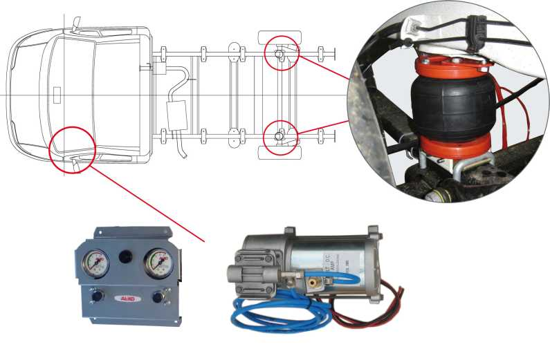 Air Top Completo con Kit Compressore per Fiat Ducato X250-290