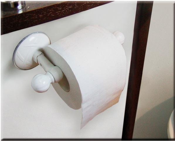 Portarotolo per carta igienica a ventosa aprot 5 80 for Accessori bagno a ventosa everloc