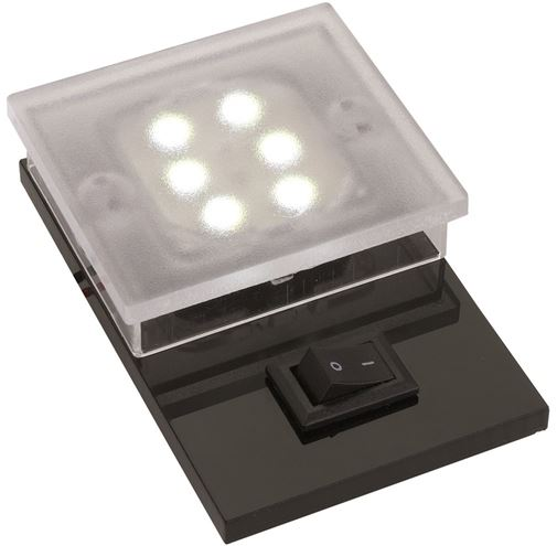 Luce a Led Spot 6 Power Led Bianchi con Interruttore