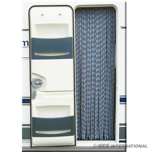 Tenda in ciniglia per porta bianco blu 56x200 ten2101 for Tende per porte