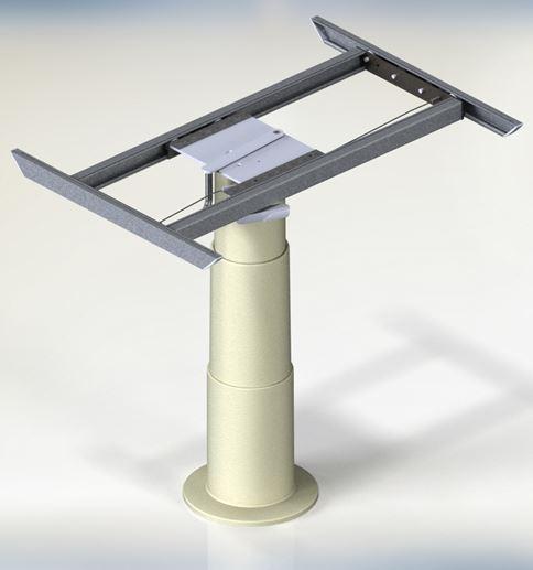 Struttura gamba telescopica per tavolo modello cosmo 2 - Meccanismo rotante per tavolo ...