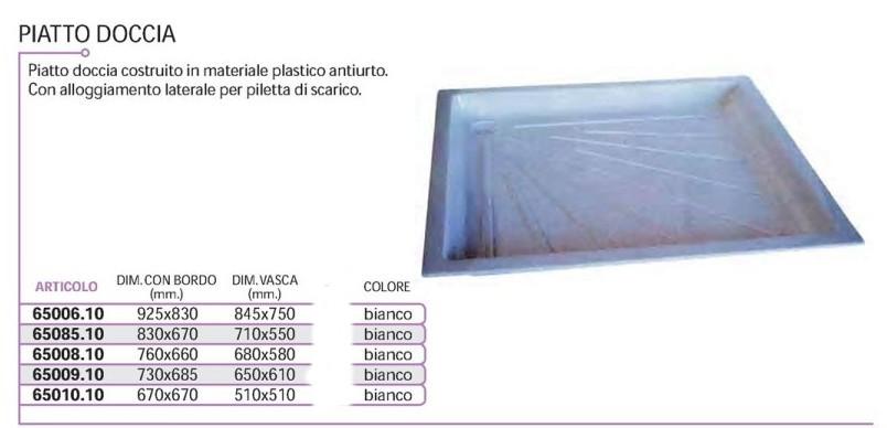 piatto doccia 92,5x83 cm. adatto parete tft bianco [65006.10] - 55 ... - Tft Arredo Bagno