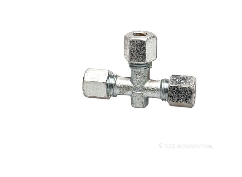 Raccordo a t in acciaio zincato 80014 6 40 iva for Raccordo in acciaio verticale