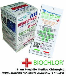 BIOCHLOR Acque Chiare Battericida MONODOSE Acquatravel