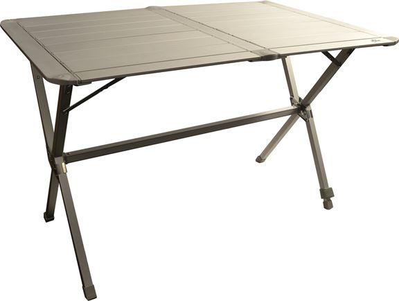 Tavolo Campeggio Alluminio Avvolgibile.Tavolo In Alluminio Avvolgibile 140x81 Cm Viamondo 15936839