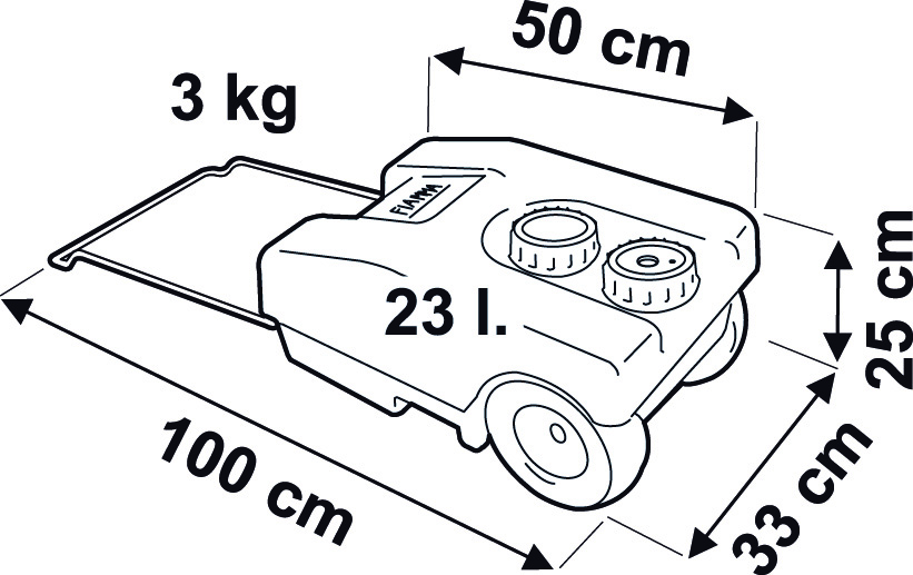 Serbatoio acqua potabile fiamma roll tank 23 f 65167 for Stuoia camper fiamma